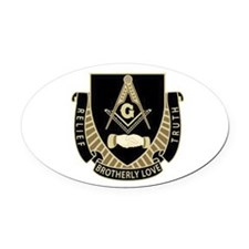 Brotherly Love Oval Car Magnet