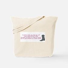 hell on heels Tote Bag
