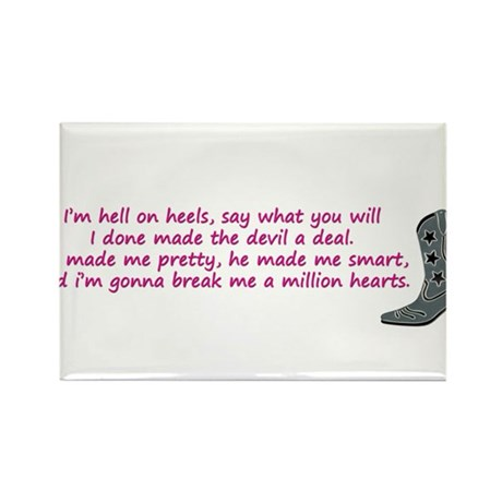 hell on heels Rectangle Magnet