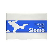 I Skate with Slomo Rectangle Magnet