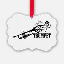 Trumpet with Swirls Ornament