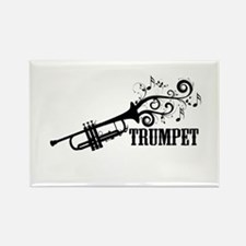 Trumpet with Swirls Rectangle Magnet