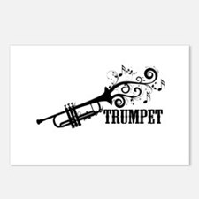 Trumpet with Swirls Postcards (Package of 8)
