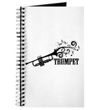 Trumpet with Swirls Journal