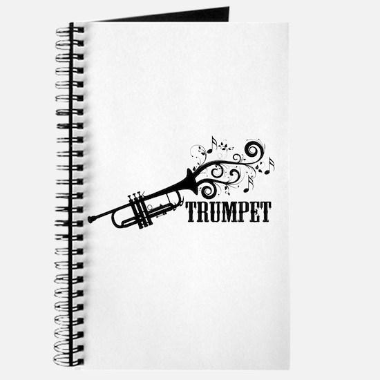 Trumpet with Swirls Journal