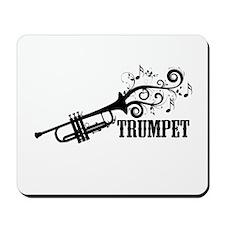 Trumpet with Swirls Mousepad
