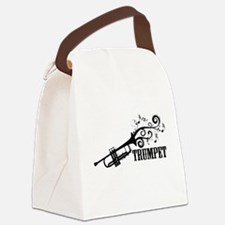 Trumpet with Swirls Canvas Lunch Bag