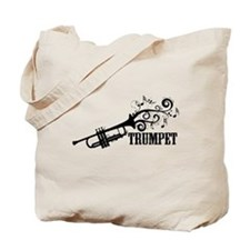Trumpet with Swirls Tote Bag