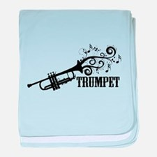 Trumpet with Swirls baby blanket