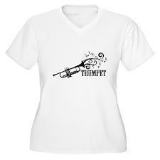 Trumpet with Swirls Plus Size T-Shirt