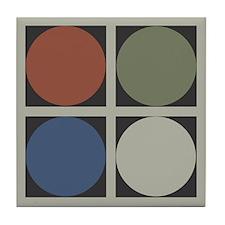 Multi-Color Circles Tile Coaster