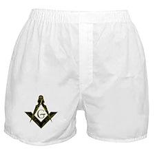 Metallic Square and Compasses Boxer Shorts