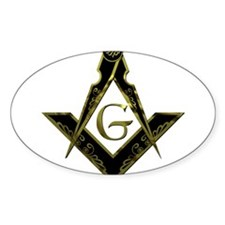 Metallic Square and Compasses Decal