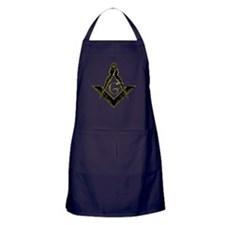 Metallic Square and Compasses Apron (dark)