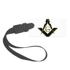 Metallic Square and Compasses Luggage Tag