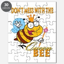 dont mess with the queen bee funny cartoon Puzzle