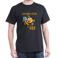 dont mess with the queen bee funny cartoon T-Shirt