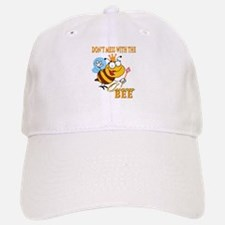 dont mess with the queen bee funny cartoon Baseball Baseball Cap