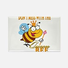 dont mess with the queen bee funny cartoon Rectang
