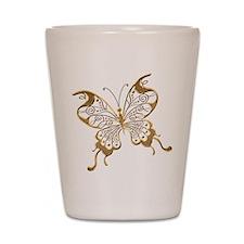 Golden Butterfly Shot Glass