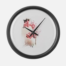 Orchid Blossom Large Wall Clock