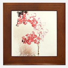 Orchid Blossom Framed Tile