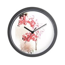 Orchid Blossom Wall Clock