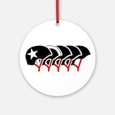 Roller Derby helmets (black design) Ornament (Roun