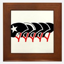 Roller Derby helmets (black design) Framed Tile