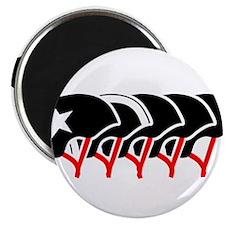 """Roller Derby helmets (black design) 2.25"""" Magnet ("""