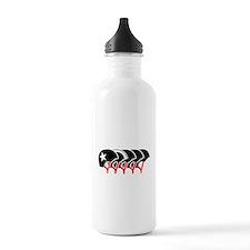 Roller Derby helmets (black design) Water Bottle