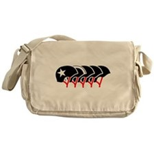 Roller Derby helmets (black design) Messenger Bag