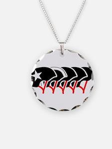 Roller Derby helmets (black design) Necklace
