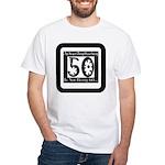Being 50 White T-Shirt
