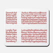 Danish Cities Flag Mousepad