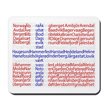 Norwegian Cities Flag Mousepad
