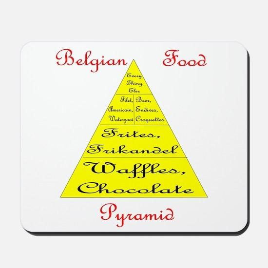 Belgian Food Pyramid Mousepad