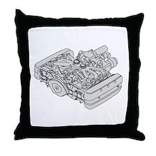 GL1800 Engine Throw Pillow