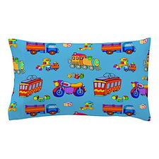 Toys Trucks & Trains Pillow Case