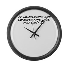 Funny Dwarves Large Wall Clock