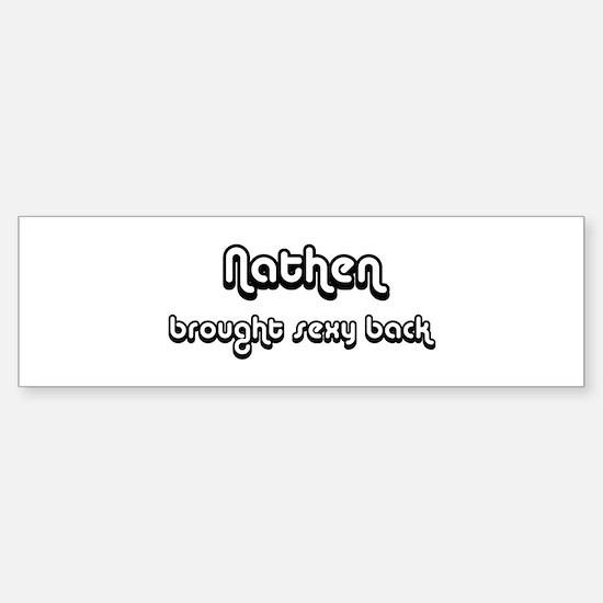 Sexy: Nathen Bumper Car Car Sticker