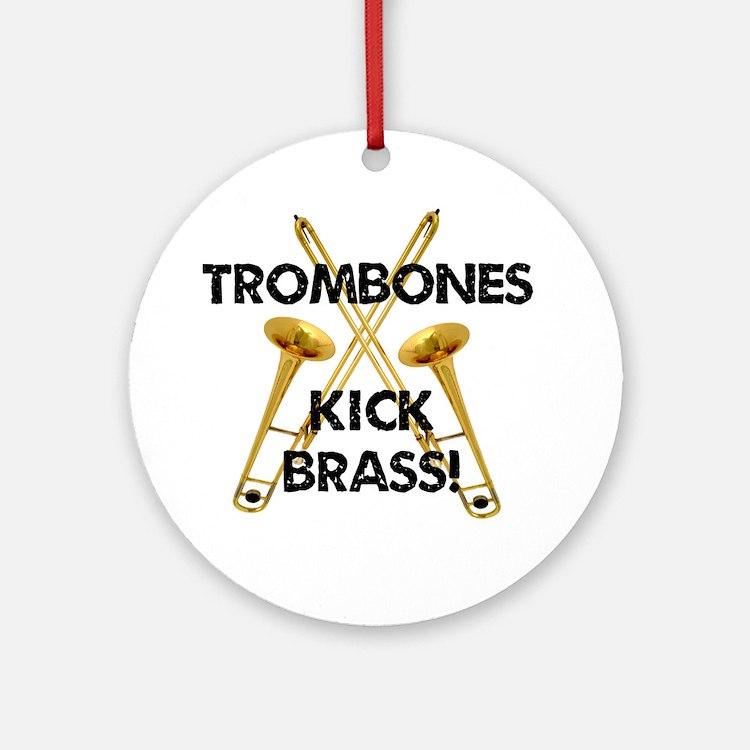 Trombones Kick Brass Ornament (Round)