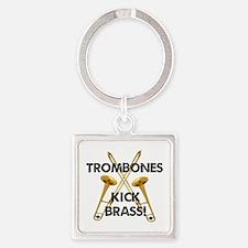 Trombones Kick Brass Square Keychain