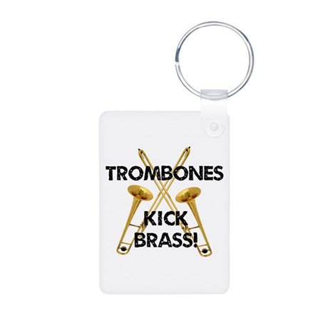 Trombones Kick Brass Keychains