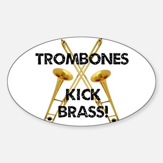 Trombones Kick Brass Decal