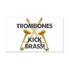 Trombones Kick Brass Rectangle Car Magnet