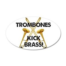 Trombones Kick Brass Wall Decal