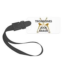 Trombones Kick Brass Luggage Tag