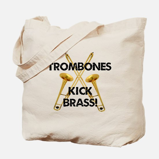 Trombones Kick Brass Tote Bag