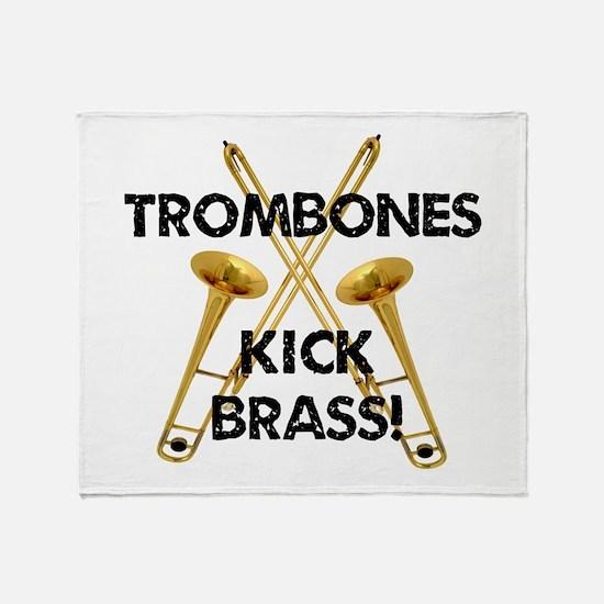 Trombones Kick Brass Throw Blanket